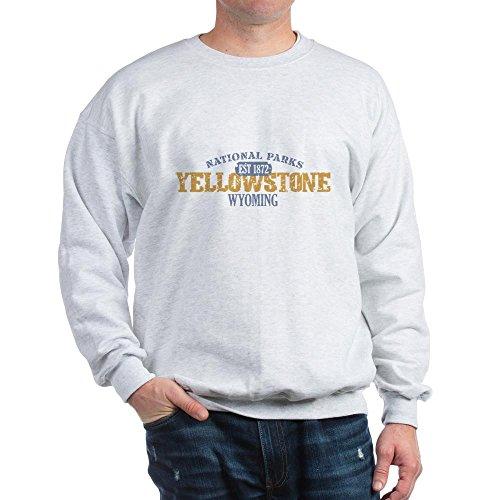 CafePress Sweat-shirt Parc national Yellowstone WY - Gris - XX-Large