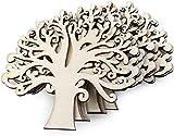 Adorno Madera Arbol de la Vida,10 PCS Adornos para Manualidades de Arbol Blanco Árbol de Vida en Blanco Deco para Bodas Adornos Navideños Decoraion Art DIY Decoración del Hogar