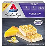 Dessert bar - Lemon tart. Enjoy a true dessert experience while keeping true to your lifestyle goals with this indulgent Atkins treat. Includes 1 pack of 5 individually wrapped 1.2 oz bars. All taste. No guilt. With 3 grams of net Carbs and 1 gram of...