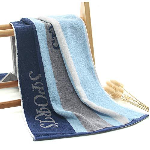 Badhanddoek Katoen Gestreept Heren Dames Sport Badhanddoek Strandbad Sauna Handdoeken Yoga Gym Handdoek Zwemmen 40x95cm-Blauw