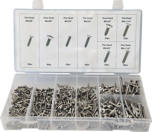 Swordfish 31930 Stainless Steel Screw Assortment, 420 Piece