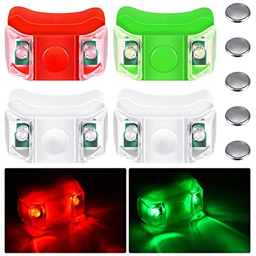 4 Pieces Boat Bow Lights LED Boat Navigation Lights with 5 Pieces...