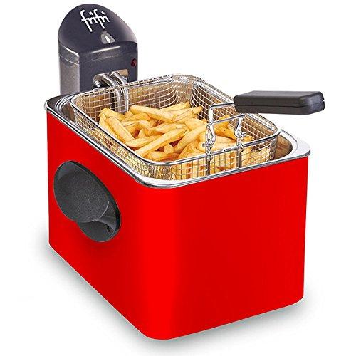 FRIFRI - FRITEUSE - 1905R - 3,5L; 3200W ; - 1kg frietjes - mantel metaal - rood - 1905R