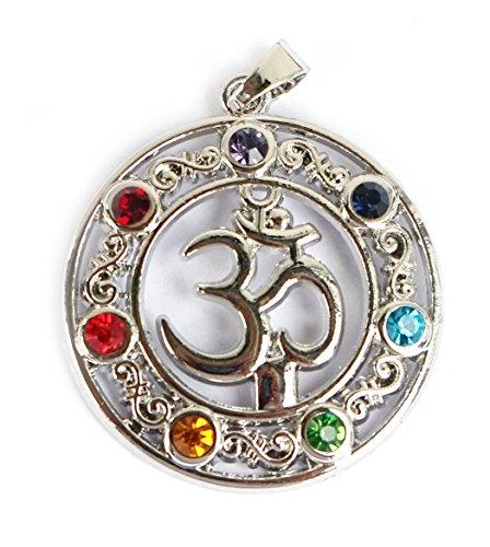 Spirit of Avalon Anhänger/Amulett OM AUM Silber 7 Chakra - Yoga Esoterik Spiritualität Astrologie Meditation Energie