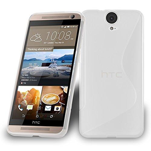 Cadorabo Hülle für HTC ONE E9 Plus - Hülle in HALB TRANSPARENT – Handyhülle aus flexiblem TPU Silikon im S-Line Design - Silikonhülle Schutzhülle Soft Back Cover Case Bumper