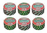 Duct Tape 6 Pack Christmas Collection Christmas Smileys, HoHoHo!, and Christmas Stripes
