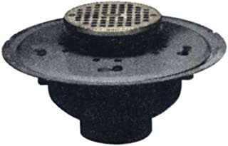 Oatey 82094 ABS Adjustable Commercial Drain with 5-Inch CHR Grate and Round Ring, 4-Inch