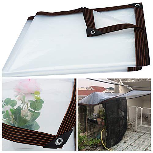 WAJIEFD Lona Impermeable Transparente con Ojales, Paño De Plástico De 0,12 mm Balcón Jardín Protección contra El Frío (Color : Clear, Size : 4X10M)