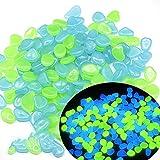 sunflowe Piedra Luminosa De 20-30 Mm, Piedras Luminosas Mixtas Azules Y Verdes, Acuario De Jardín, Acuario, Paisajismo, Guijarros Luminosos Fluorescentes De Fluorita Artificial