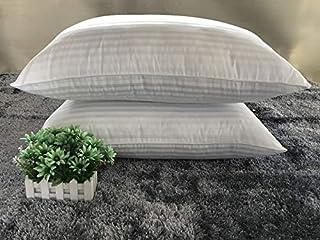 DCGSADFW Almohada de algodón de satén de color blanco para el hogar, almohada de plumas, tamaño 75 x 45)