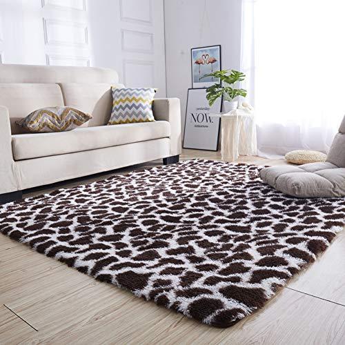 MM-CDZ Leopard Print Shaggy tapijt, High Pile Area tapijt, zachte harige tapijten, sjaal pluizig tapijt, anti-slip vloermat, tapijt pad, voor woonkamer