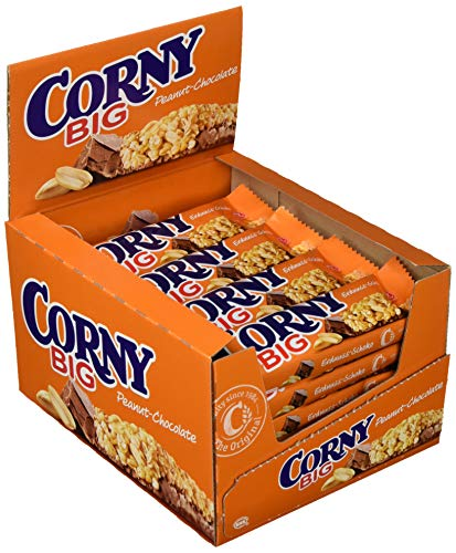 Corny Big Erdnuss-Schoko, Müsliriegel, 24er Pack (24 x 50g)