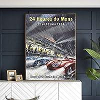 帆布の絵 キャンバスのフランスのポスター は居間の家の装飾のための北欧の壁の芸術の絵を印刷します 60x90cm