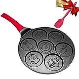 Pancake Maker Pan - Griddle Pancake Pan Molds for Kids Nonstick Pancake Griddle Crepe Pan with 7...