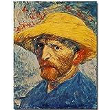 WSWWYPortrait d'une Reproduction célèbre de l'autoportrait de Vincent Van Gogh imprimé sur Toile (estampe) A 60x95cm No Frame