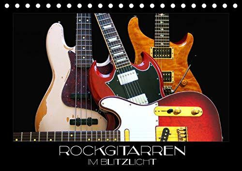 Rockgitarren im Blitzlicht (Tischkalender 2021 DIN A5 quer)