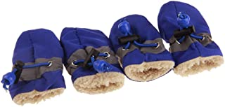 Balacoo 4pcs Pet Shoes Anti-Skid Dog Boots Pet Paws Protector for Cat Kitten Dog Puppy Outdoor Activities