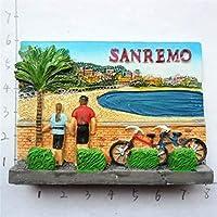 冷蔵庫マグネット 冷蔵庫マグネット観光お土産磁気冷蔵庫ステッカーギフト (Color : Sanremo)