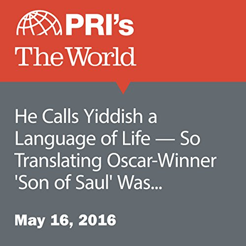 He Calls Yiddish a Language of Life - So Translating Oscar-Winner 'Son of Saul' Was an Especially Dark Experience audiobook cover art