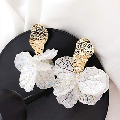 xingguang Pendientes de la novedad coreano blanco Shell flor pétalo pendientes para las mujeres nueva declaración pendientes de moda joyería