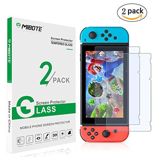 2 pacchi di protezione in vetro temperato per Nintendo Switch da Mibote
