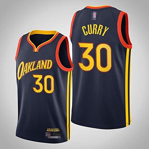 LYY Jerseys De Hombre, NBA Golden State Warriors # 30 Stephen Curry - Uniformes De Baloncesto Camisetas De Deporte Sin Mangas Clásicas Y Camisetas Cómodas,L(175~180CM)