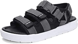Xujw-shoes, Mens Outdoor Sandals Summer Water Beach Slipper Casual Water Shoes for Men Antislip Open Toe Mesh Material Hook&Loop Strap Fashion Buckles Outsole