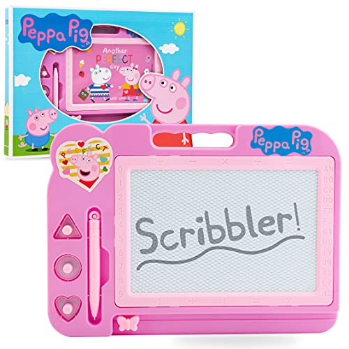 Peppa Pig Pizarra Magnetica, Pizarra Infantil, Pizarra Mágica 27 x 20 cm, Regalo Niña, Juguetes Infantiles