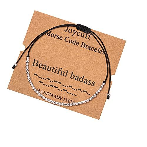 Beautiful Bdas Morse Code Women Bracelets Inspirational Bracelets for Friendship...