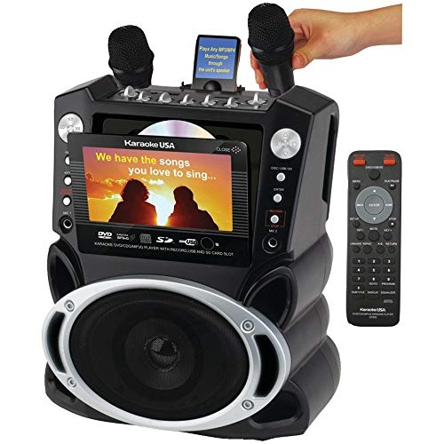 Karaoke USA All-in-one Karaoke System with 7-inch TFT Color Screen and Record Function - GF829