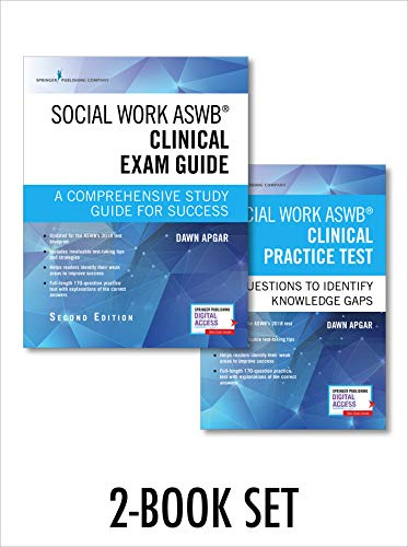 Compare Textbook Prices for Social Work ASWB Clinical Exam Guide and Practice Test, Second Edition Set - Includes a Comprehensive Study Guide and LCSW Practice Test Book with 170 Questions, Free Mobile and Web Access Included 2 Edition ISBN 9780826147868 by Apgar PhD  LSW  ACSW, Dawn