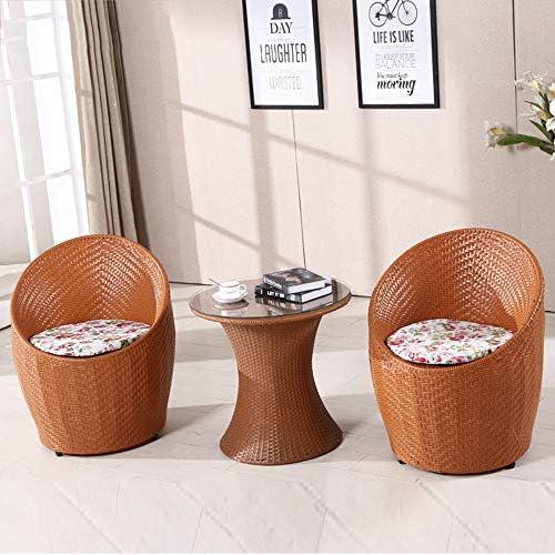 Balkon Im Freien Tischstuhl Vogelnest Teetisch Drei Sätze Von Modernem Einfachen M ln Kombination Freizeit Rattan Hotelstuhl Gelb