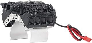 Nobranded 1/10 metall V8 motorkåpsplatta för D90 -4 RC krypare uppgraderingsdelar - svart, 70 x 70 x 55 mm