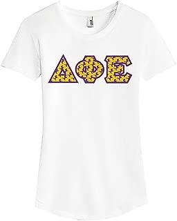Delta Phi Epsilon DPHIE Printed Mascot Letter Ladies Tri-Blend T-Shirt 6750L