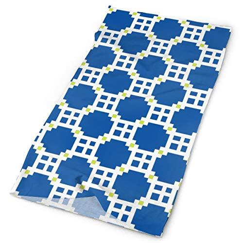 Eta Checks bandera griega azul y blanco con lima cuello polaina mágica headwear diadema cara bandana máscara deporte bufanda multi función