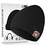 BULYPAZY Bluetooth Beanie Upgraded Version 5.0, Bluetooth Hat for Men with Double Fleece Lined, Mic and HD Speakers, Valentines Day Unique Gifts for Him/Her
