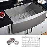 """VCCUCINE Farmhouse Sink,Commercial Brushed 30"""" undermount..."""