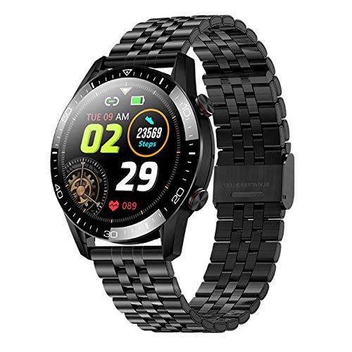 HQPCAHL Smartwatch Damen, Bluetooth Smart Watch 1.28 Zoll Voll Touchscreen Fitness Tracker IP68 Wasserdicht Mit Pulsuhr Schrittzähler Schlafmonitor Stoppuhr Damen Herren Sportuhr Für Ios Android,A
