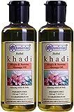 Glamorous Hub Khadi Rishikesh Herbal Mogra & Jasmine Juego combinado de aceite de masaje, paquete de 210 ml x 2 (420 ml) (el embalaje puede variar)