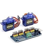 TeOhk SG90 9 g mini växel mikro servomotor med 16 kanaler 12 bit PWM servomotor drivrutin IIC gränssnitt PCA9685 modulstyrenhet