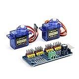 Jolicobo G90 9g Mini Getriebe Micro Servomotor mit 16 Kanal 12 Bit PWM Servomotor Treiber IIC Schnittstelle PCA9685 Modul Controller Für Robot DIY Servo Shield Modul -