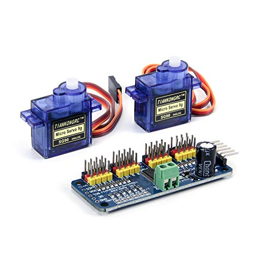 Jolicobo G90 9g Mini Getriebe Micro Servomotor mit 16 Kanal 12 Bit PWM Servomotor Treiber IIC Schnittstelle PCA9685 Modul Controller Für Robot DIY Servo Shield Modul
