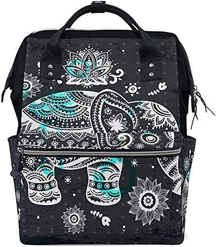 Daypacks Elephant patroon print luiertas waterdichte rugzak draagtas met grotere capaciteit mummierugzak papa babypverzorging stijlvolle moer muti-functie