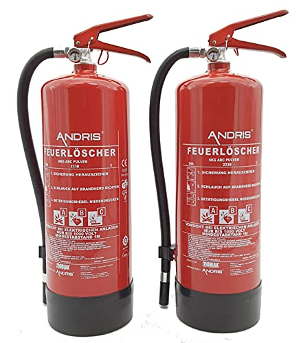 ANDRIS -  2X Feuerlöscher 6kg