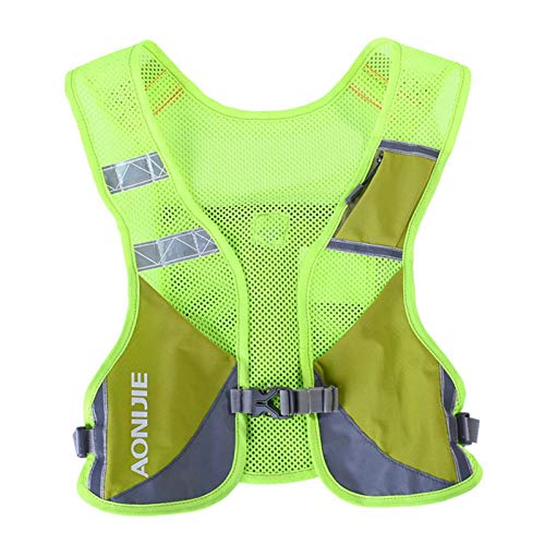 AONIJIE Hydration Backpack Reflective Running Back Vest with 6 compartments Lightweight Breathable Carry for Outdoors Sport Trail Marathoner Race Cycling Biking Climbing Hiking