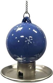 GAO-bo Alimentadores de Aves, alimentador de Aves de Gancho de cerámica de Copo de Nieve Azul, artesanías de cerámica al A...