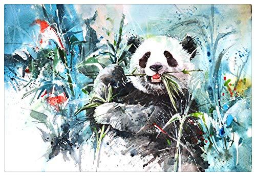 Puzzle 1000 Piezas,Adulto Puzzle,Rompecabezas De Madera,Colección De Arte De La Familia - Pintura De Tinta De Panda Gigante En Bosque De Bambú