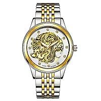 Fashion Watch Tevise Twiss長いテーブルのカップルの腕時計の男性はレインコート発光自動技術の時計を見ます Men's Watch (Color : 2-40.3mm)