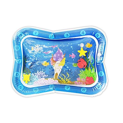 Colchoneta de juego para bebés con cojín de agua, colchón de agua para niños, colchoneta de juego de agua para niños pequeños, juguetes educativos inflables con aire acondicionado, entrenamiento muscu