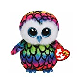 Claire's Accessories Ty Beanie Boos Plush Aria the Rainbow Owl - 6' Small
